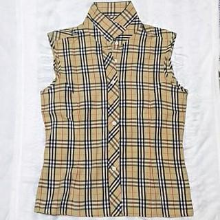 バーバリー(BURBERRY)のBURBERRY ノースリーブ シャツ(シャツ/ブラウス(半袖/袖なし))