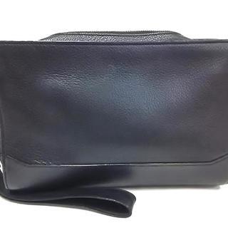 カルティエ(Cartier)のカルティエ セカンドバッグ 黒 レザー(セカンドバッグ/クラッチバッグ)