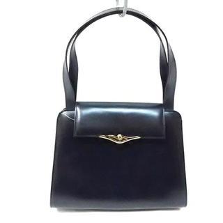カルティエ(Cartier)のカルティエ ハンドバッグ美品  黒 レザー(ハンドバッグ)