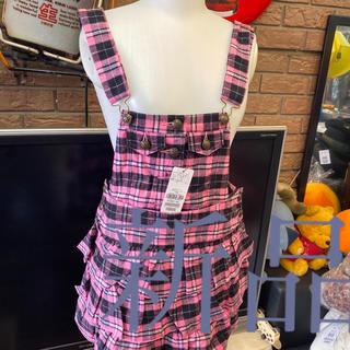 ピンクラテ(PINK-latte)の新品ピンクラテサロペットスカート定価3990サイズs(ミニスカート)