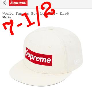シュプリーム(Supreme)のSupreme Box Logo New Era 7 1/2 白(キャップ)