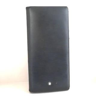 モンブラン(MONTBLANC)のMONTBLANC(モンブラン) 長財布 - 黒 レザー(財布)