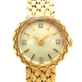 アガット(agete)のアガット 腕時計 - レディース 4Pダイヤ(腕時計)