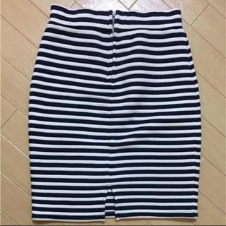 ミーア(MIIA)のMIIA ボーダースカート(ひざ丈スカート)