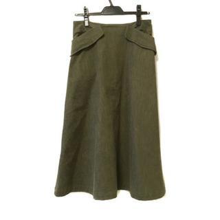 ワイズ(Y's)のワイズ ロングスカート サイズ1 S - カーキ(ロングスカート)
