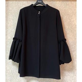 ルネ(René)の✨ルネ ブラックブラウス 36 袖口バルーン 19AWシリーズ 未使用(シャツ/ブラウス(長袖/七分))