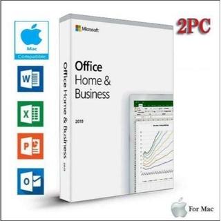 マイクロソフト(Microsoft)のMac版 2PC用 / Office 2019 Home & Business(デスクトップ型PC)