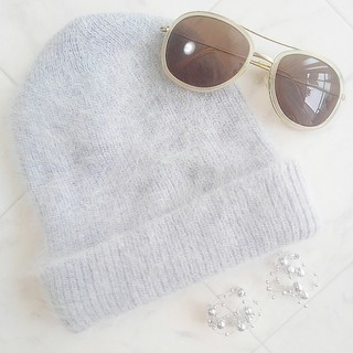 ザラ(ZARA)の【新品未使用品】アンゴラニット帽(ニット帽/ビーニー)