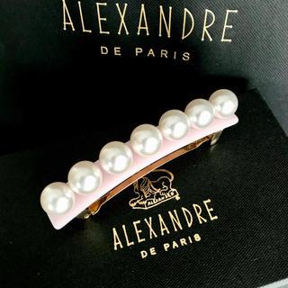 アレクサンドルドゥパリ(Alexandre de Paris)の新品未使用 Alexandre de Paris パールバレッタ ピンク(バレッタ/ヘアクリップ)