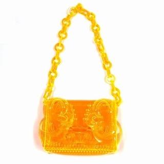マメ(mame)のMameKurogouchi  Mini Chain Bag オレンジ(ショルダーバッグ)