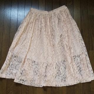 デイシー(deicy)のレースのギャザースカート(ひざ丈スカート)