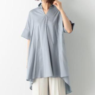 レプシィム(LEPSIM)のレプシィム バックロングシャツ ブルー(シャツ/ブラウス(半袖/袖なし))