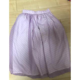 ミーア(MIIA)のラベンダーカラーフレアスカート(ひざ丈スカート)
