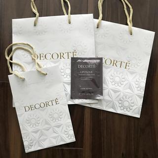 コスメデコルテ(COSME DECORTE)のコスメデコルテ  ショッパー 紙袋 リポソーム トリートメントマスク(ショップ袋)