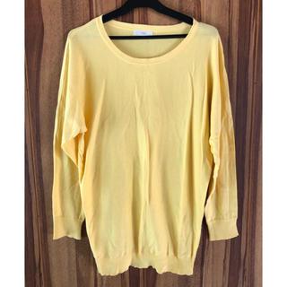 ヴィス(ViS)のVIS 黄色 長袖 薄手コットン 美品(Tシャツ(長袖/七分))