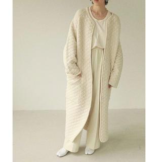 トゥデイフル(TODAYFUL)のtodayful  Quilting Knit Coat  36 ECRU(ニットコート)