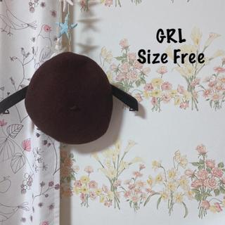 グレイル(GRL)のグレイル 帽子 茶色 ベレー帽(ハンチング/ベレー帽)
