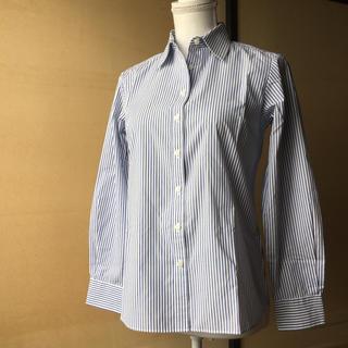 イオン(AEON)のストライプ  長袖シャツ 2枚セット(シャツ/ブラウス(長袖/七分))