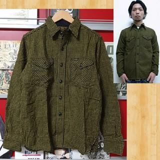 クーティー(COOTIE)の購入19740円 cootie ウール チェックシャツ S kj 降谷 美品(シャツ)