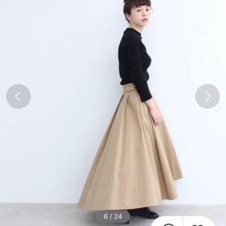 ドットアンドストライプスチャイルドウーマン(Dot&Stripes CHILDWOMAN)のchild woman チノフレア グルカsk(ひざ丈スカート)