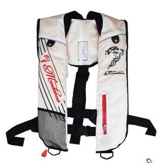 釣りライフジャケット(肩掛けタイプ手動・自動膨脹式) ホワイト フリー(ウエア)