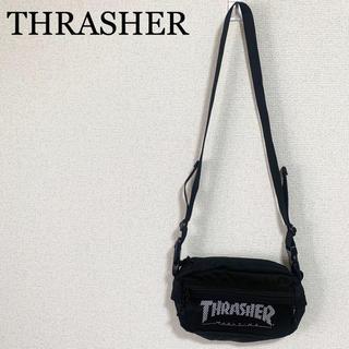 スラッシャー(THRASHER)の★未使用★スラッシャー ショルダーバッグ 黒 ミニショルダー ロゴ(ショルダーバッグ)