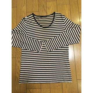 ハレ(HARE)のHARE☆ボーダーカットソー☆黒×ピンク(Tシャツ/カットソー(七分/長袖))