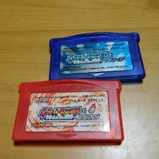 ゲームボーイアドバンス(ゲームボーイアドバンス)のポケットモンスターサファイア、ファイヤレッド(携帯用ゲームソフト)