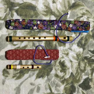 篠笛セット (ミニ篠笛・袋付)(横笛)