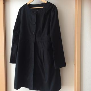 イエナスローブ(IENA SLOBE)のイエナスローブ ノーカラーコート 秋物 ブラック  サイズ40(ノーカラージャケット)