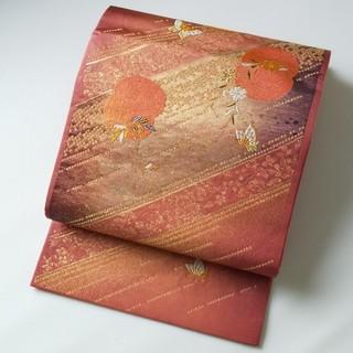 ニシジン(西陣)の新品 西陣織 袋帯「王朝の纐纈」仕立て上がり品  金糸使い 振袖 訪問着(帯)