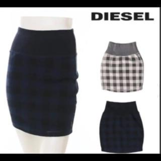 ディーゼル(DIESEL)のディーゼル スカート 新品 S ネイビー(ひざ丈スカート)