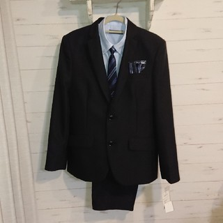 シマムラ(しまむら)のスーツ上下セット 150 ネクタイ チーフ シャツ(ドレス/フォーマル)