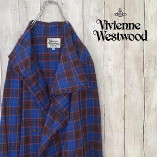 ヴィヴィアンウエストウッド(Vivienne Westwood)の【大人気!】ヴィヴィアン ウエストウッド チェック コート 変形(ロングコート)