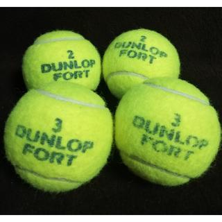 DUNLOP - ダンロップ テニスボール 4個