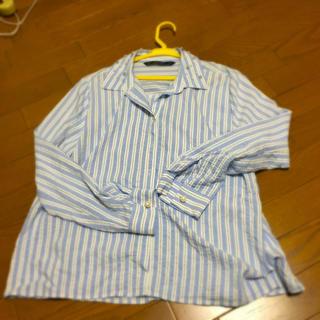 ザラ(ZARA)のザラパールビジューシャツサイズL(シャツ/ブラウス(長袖/七分))