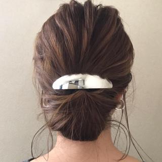 アネモネ(Ane Mone)のslim oval barrette-silver-(バレッタ/ヘアクリップ)