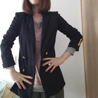 エンフォルド(ENFOLD)のBEIGE定価7万円程 黒テーラードジャケット(テーラードジャケット)