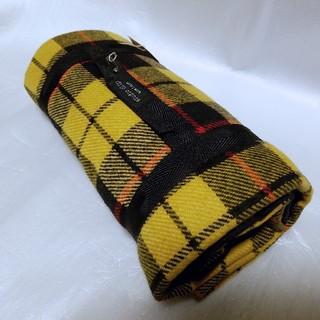 スタディオクリップ(STUDIO CLIP)のブランケット ひざ掛け 毛布 チェック柄 イエロー 100×145cm(マフラー/ショール)