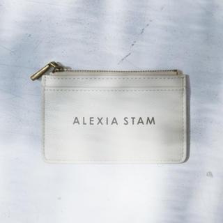 アリシアスタン(ALEXIA STAM)の新品 Alexia Stam ロゴカードケース サンドベージュ(財布)