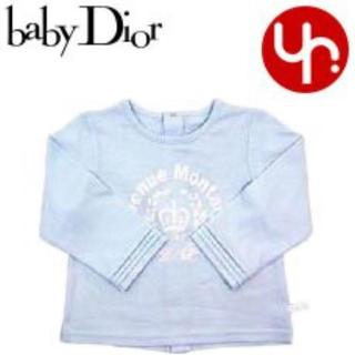 ベビーディオール(baby Dior)の【ラッピング包装のまま新品】ベビーディオール babyDior 長袖カットソー青(シャツ/カットソー)