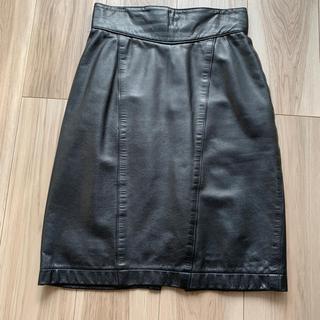 エディション(Edition)のGarment Factory本革スカート 膝丈(ひざ丈スカート)