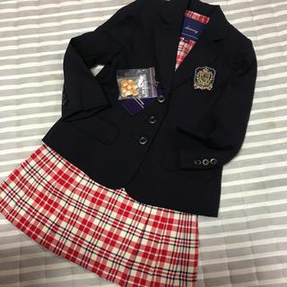 女の子 フォーマル 110 チェック新品(ドレス/フォーマル)