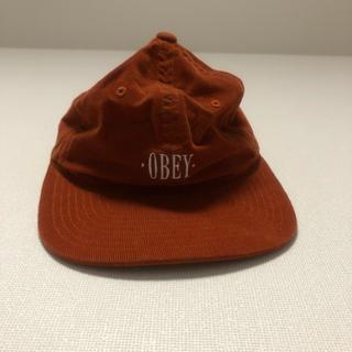 オベイ(OBEY)のOBEY キャップ コーデュロイ オレンジ(キャップ)