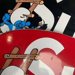 シュプリーム(Supreme)の専用 Supreme Smurfs Skateboard 赤&黒 2枚組セット(スケートボード)