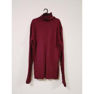 ジョンローレンスサリバン(JOHN LAWRENCE SULLIVAN)のタートルボーダーロンT(赤•黒)(10/31まで)(Tシャツ/カットソー(七分/長袖))