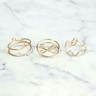 リボン ピンキーリングセット(リング(指輪))