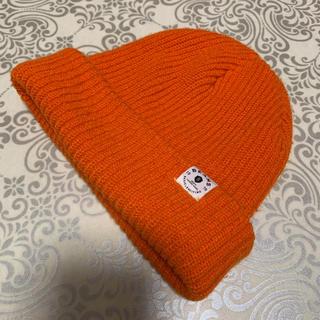 ビームス(BEAMS)の【良品】 USA製 ビームス BEAMS ニットキャップ  ニット帽 オレンジ(ニット帽/ビーニー)