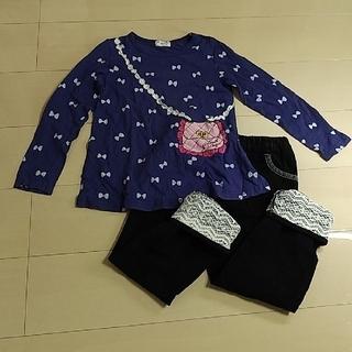 サンカンシオン(3can4on)のひーちゃん様専用 3can4onコーデュロイパンツ120 Tシャツ120 セット(Tシャツ/カットソー)