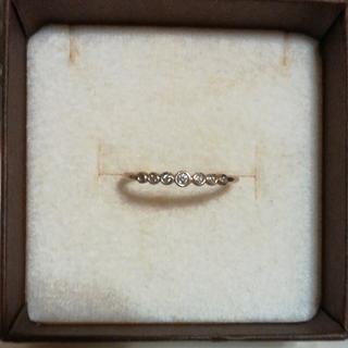 ココシュニック(COCOSHNIK)のココシュニック K10YG ダイヤモンドリング 12号(リング(指輪))